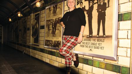 Nicky Weller in front of a poster of The Jam. Photo: Phil Dias
