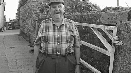 Ivor Pellow and his missing front tooth! Aysh, Throwleigh. Photo: Chris Chapman