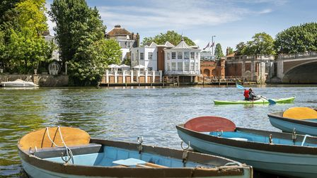 The Mitre Hotel Hampton Court sits on the banks of the River Thames