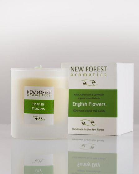 New Forest Aromatics' English Flowers candle is made using local lavender