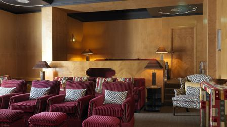 The art deco cinema room is just as fun for adults as it is for the kids