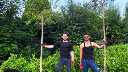 Kunal and Tom have planted hedging and trees on their land during lockdown