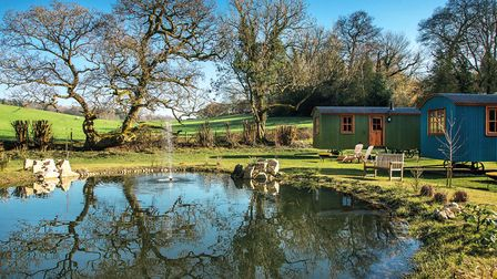 Shepherd Hut's at Merry Harriers. Image supplied
