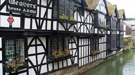 The Old Weavers ale house in Canterbury is one of our top riverside pubs in Kent (photo: Paul Sturme