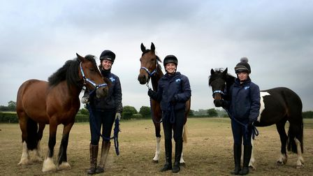 Annabelle Vaney with Bonnie, a 13.2 hand, six-year-old cobb, Jess Hall with Fairy, a 15.1 hand thoro