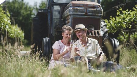Ivan and Janice Jordan are producing sparkling wine from their vineyard at Silverton, near Exeter, D
