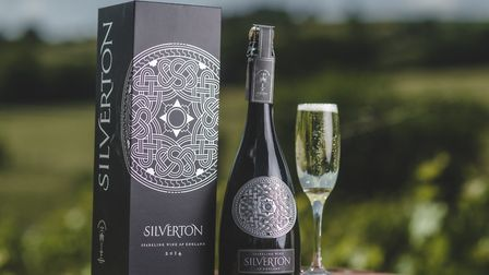 The striking badge on the bottle of Silverton Vineyard's wine is crafted out of zinc and basedon Sax
