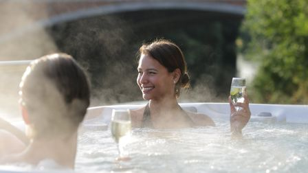 The outdoor whirlpool right by the River Thames at The Runnymede Hotel. Image: Runnymede on Thames