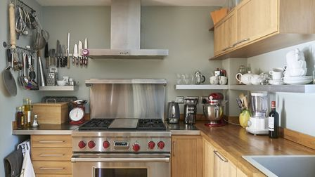 The kitchen features a Wolf range cooker which owner David describes as a pleasure to cook on