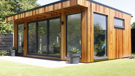 A garden room is ideal for providing much-needed space. Picture: Olympian Garden Buildings