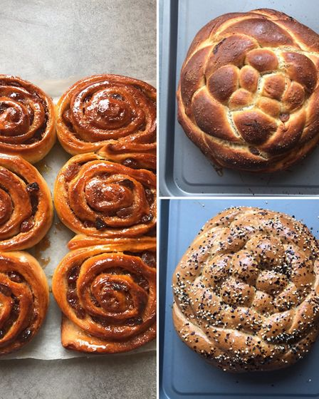 Spread the Loaf offers a selection of home-baked goods, including cinnamon buns and a range of Chall