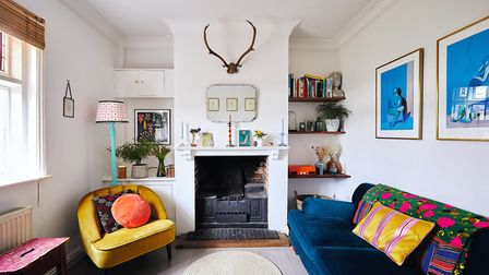 Camilla mixes contemporary furniture from shops like Made and Swoon with vintage finds. Photo by Sar
