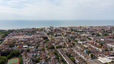 Aerial photo of the town of Worthing