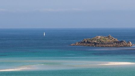 The sea around Scilly inspired the bottle colour. Photo: Scilly Spirit