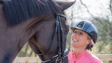 Dressage rider Amy Stovold. Photo: Frog and Field Photography