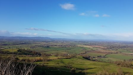 Looking out across the Vale of Evesham towards the Malverns (photo: Kirsty Hartsiotis)