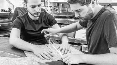 Tamas and Luke in their West Molesey studio. Image: Lewis McCarthy