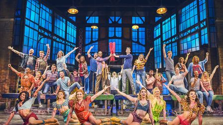 Watch the stage performance of Kinky Boots on a big screen in the Mayflower's auditorium credit The