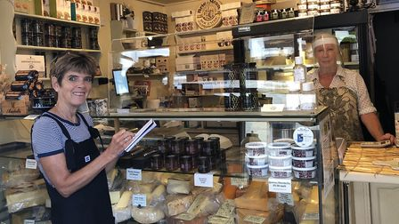 Tracy interviewing Jenny Grant from House of Cheese on Church Street (photo: Tracy Spiers)