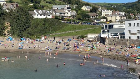 Combe Martin beach was busy with holidaymakers at the end of July. Photo: Tony Gussin