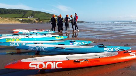 Paddleboards are just some of the equipment used by surf lifesavers. Photo: Croyde Surf Life Saving