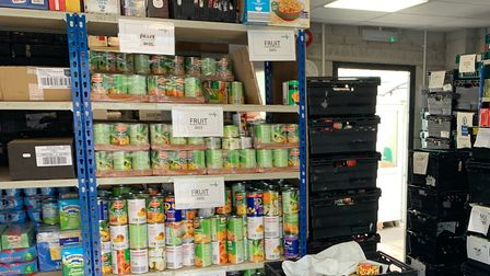 Donations from the public help to keep stores up. Photo: Plymouth Foodbank