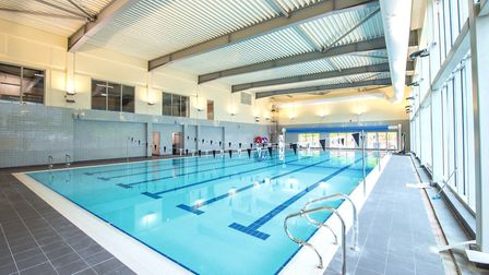The swimming pool is just one of the new facilities the students have to look forward to. Photo: Chr