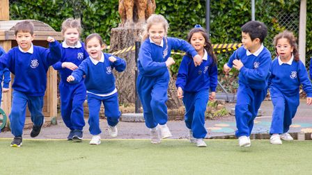 Small class sizes allowed every year group to return from mid-June. Picture: Danesfield Manor School