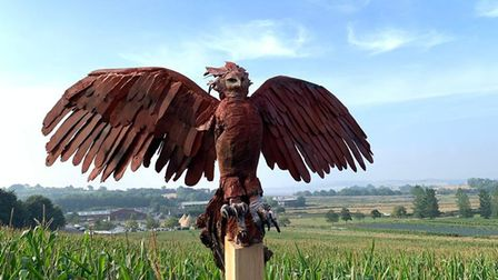 Reborn Phoenix Rising by Brendan Rawlings can be seen on the Darts Farm Sculpture Trail. Former Exet