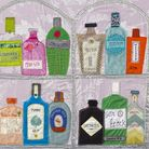 Gin Game by textile artist Jackie Gale, one of the charity exhibition's organisers