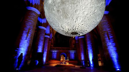 The Museum of the Moon caused quite a stir when it took up residence in Gloucester Cathedral recentl