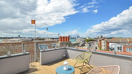 The Crows Nest roof terrace, as Richard calls it, is the perfect place to have a sundowner while enj