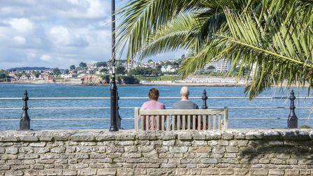 The palm tree-lined seafront looks like it could be on the Spanish coast: Photo: The English Riviera