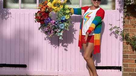 Alison created a rainbow wreath this summer in a salute to the NHS. This was a unique commission fro