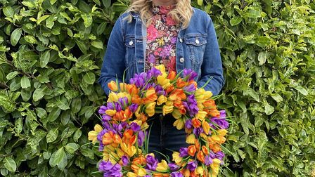 Alison launched her business with her Easter wreaths Photo: Henry Harrison