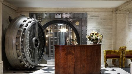 The 20-tonne vault door provides access to The Ned Club. Image: Simon Brown / The Ned