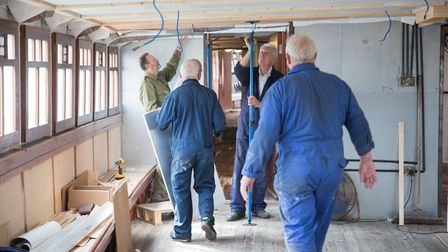 Much of the restoration work on the Medway Queen is being carried out by a small group of volunteers