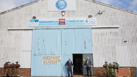 David Howells (right), vice chairman of the Medway Queen Preservation Society, with volunteer Ron Va