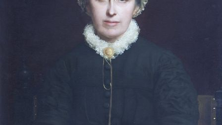Portrait of Emily Davies by Rudolph Lehmann. 1880, when Emily would have been aged around 50