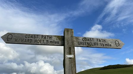 The South West Coast Path is well signposted. Photo: Becky Dickinson