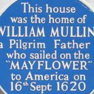 Mullins blue plaque from Mullins' House in West Street. Image: Royston Williamson