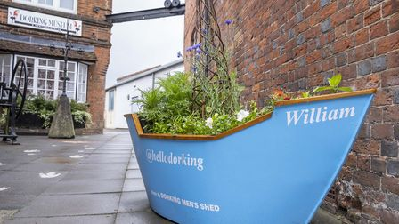 Dorking Men's Shed have installed Mayflower planters around the town to commemorate the anniversary.