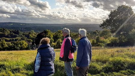 Walking in the Surrey counrtryside. Image: Chris Howard