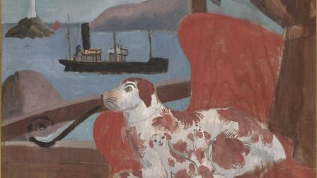 China Dogs in a St Ives Window by Christopher Wood. Photo: courtesy of Pallant House Gallery