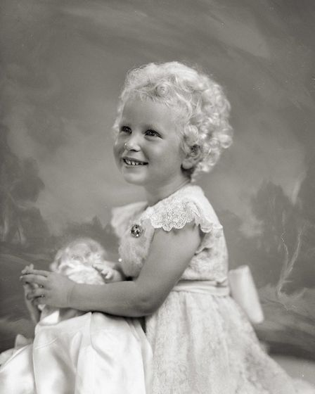Princess Anne as a three-year-old on Coronation Day, June 1953