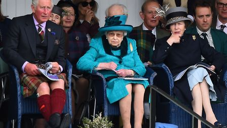 Princess Anne with HM The Queen and Prince Charles pictured in Scotland in 2018