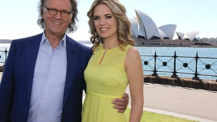 Charlotte Hawkins with Andre Rieu in Sydney where he performed with his Johann Strauss Orchestra in