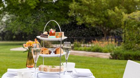 Enjoy afternoon tea in the gardens of Sopwell House (Art Is Life Photography)