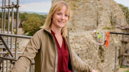 Natasha Williams, head of historic properties for Sussex with English Heritage, at Pevensey Castle.