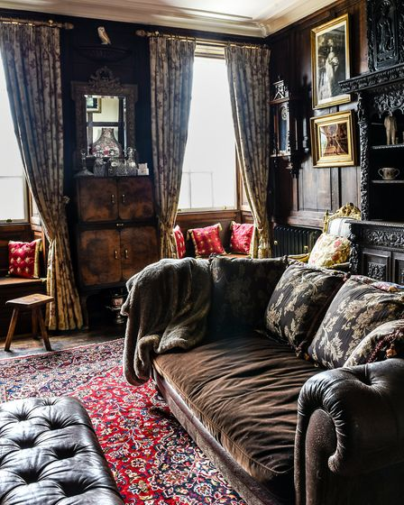 Kirk' sitting room, where he grabs some rare quiet time Photo: Fiona Bailey Photography